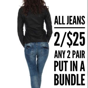 ALL SIZES❤️Bundle 2 pair of any jeans/$25